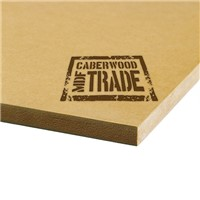 CaberWood MDF Trade MR 2440 x 1220 x 12mm is a premium grade, moisture resistant, fiberboard with a smooth face for use in humid environments. It is ideal for the manufacture of kitchen and bathroom furniture as well as wall paneling.